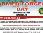 Invitation to Armed Forces Day 2018